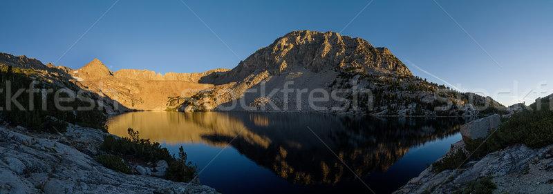 Upper Lamarck Lake Panorama Stock photo © pancaketom