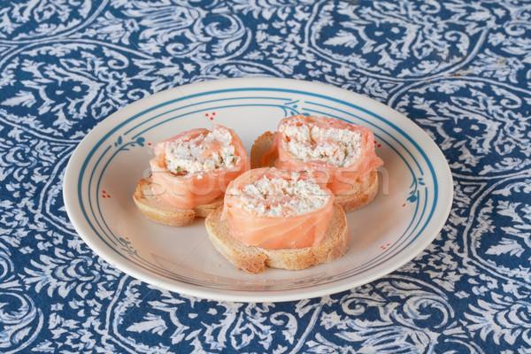 лосося сыра вокруг Сток-фото © pancaketom