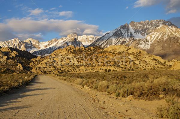 Road Towards The Mountains Stock photo © pancaketom
