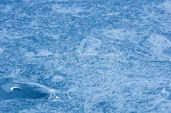Frozen Lake Patterns Stock photo © pancaketom