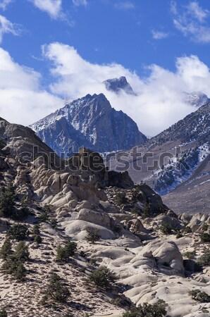 Mount Humphreys In The Clouds Stock photo © pancaketom