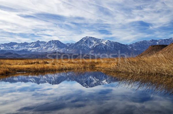 Sierra Mountains Reflection Stock photo © pancaketom