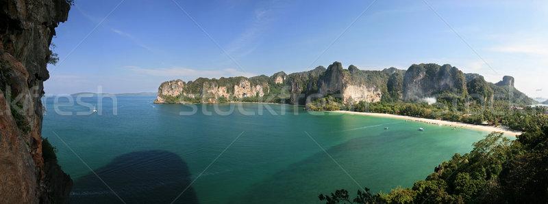 半島 ビーチ 壁 クラビ タイ 海 ストックフォト © pancaketom