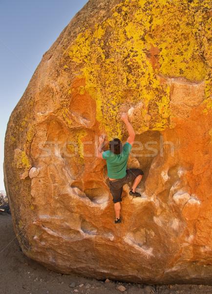 Man Rock Climbing Stock photo © pancaketom