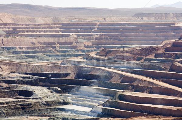 Deserto mina ativo abrir mineração industrial Foto stock © pancaketom