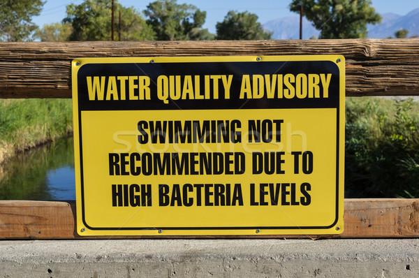 Water Quality Advisory Sign Stock photo © pancaketom