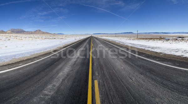 Abierto invierno carretera recto carretera Foto stock © pancaketom