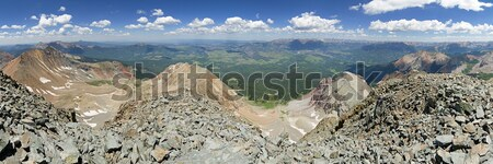 Pic panorama nord san juan gamme Colorado Photo stock © pancaketom