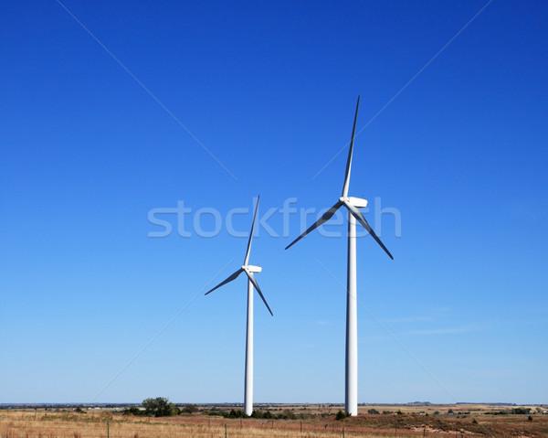 two electric windmills Stock photo © pancaketom