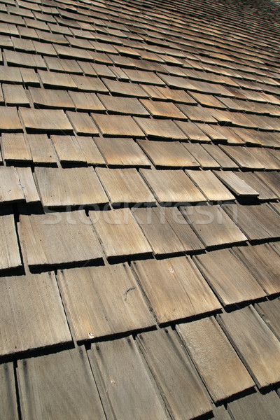 old wooden roof shingles Stock photo © pancaketom