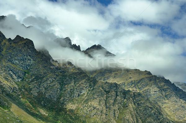 Felhő hegy déli Alpok Új-Zéland Stock fotó © pancaketom
