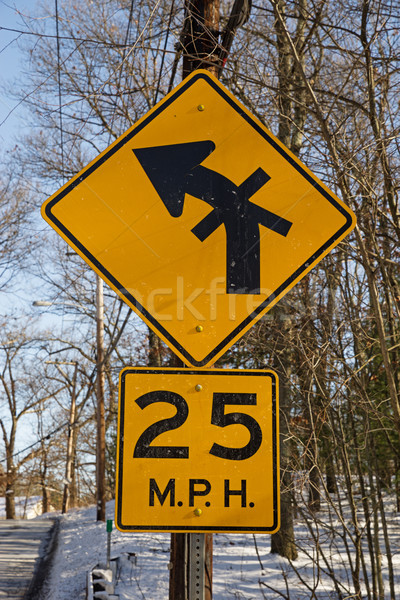 Unusual Intersection Sign Stock photo © pancaketom
