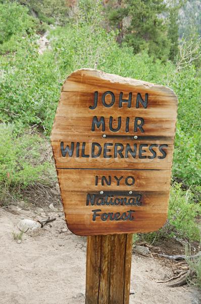 John Muir Wilderness Sign Stock photo © pancaketom
