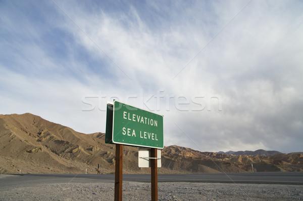 Elevation Sea Level Sign Stock photo © pancaketom