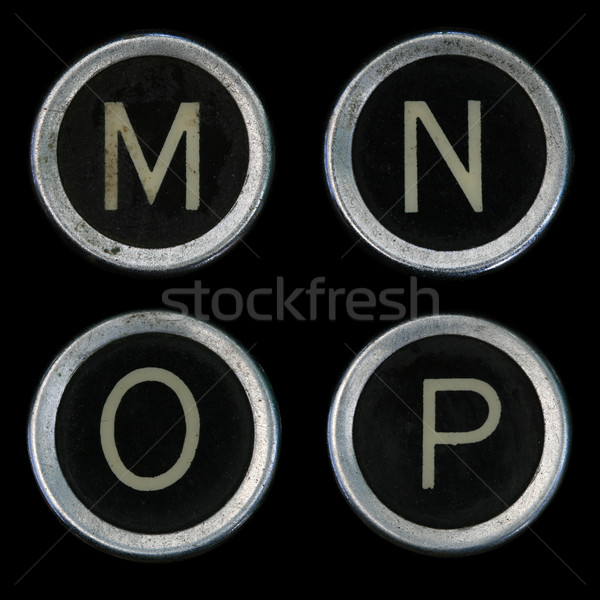 old typewriter M N O P keys Stock photo © pancaketom