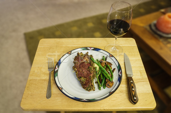 Steak Dinner Stock photo © pancaketom