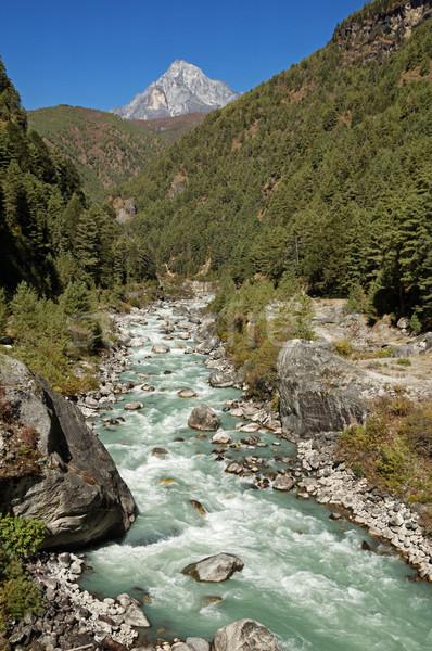 Nehir Nepal Stok fotoğraf © pancaketom