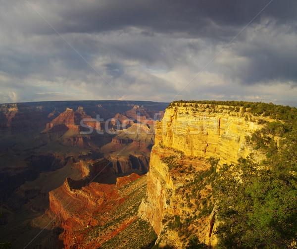 Grand Canyon passado ponto dramático noite luz Foto stock © pancaketom
