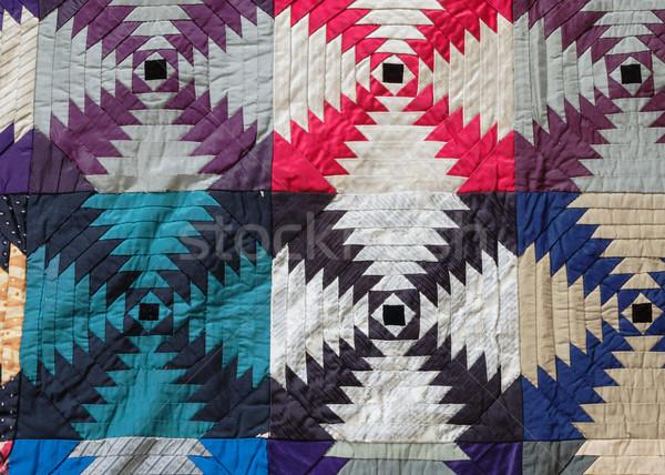 Vintage Quilt Detail Stock photo © pancaketom