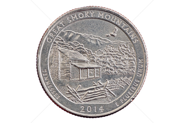 Great Smoky Mountains Quarter Coin Stock photo © pancaketom