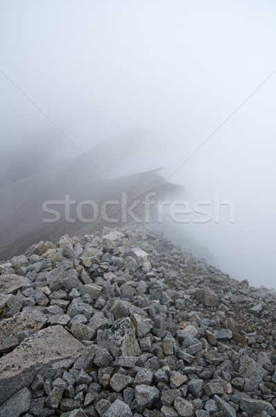 Foggy Rocky Mountain Ridge Stock photo © pancaketom