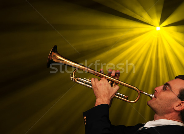 Trumpet Player Stock photo © pancaketom