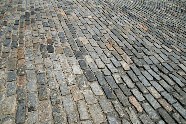 cobblestone street Stock photo © pancaketom