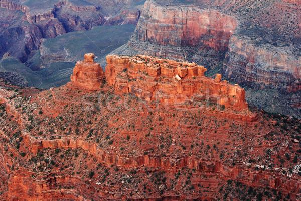 Grand Canyon kő részlet csatahajó narancs piros Stock fotó © pancaketom