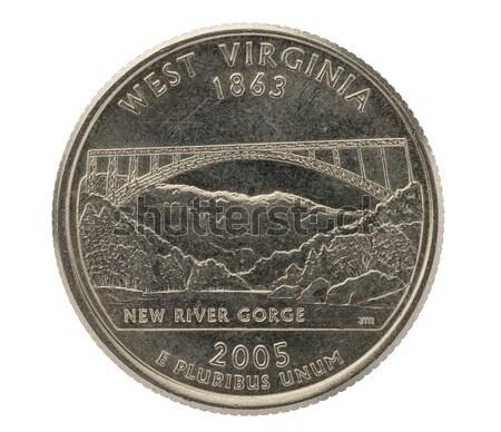 Puerto Rico negyed Egyesült Államok érme izolált fehér Stock fotó © pancaketom