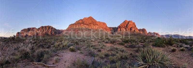 Red Rocks At Sunrise Stock photo © pancaketom