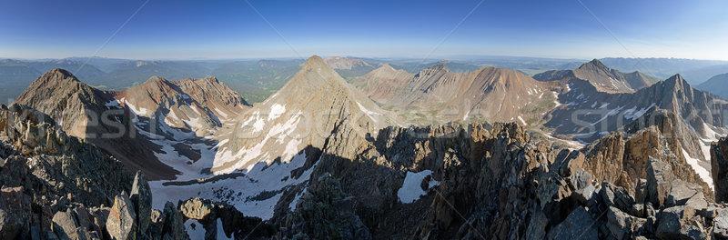 Mount Wilson Summit Panorama Stock photo © pancaketom
