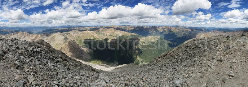 Csúcs panoráma népszerű Colorado tájkép Stock fotó © pancaketom