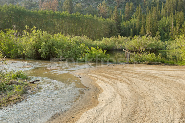 Flooded Dirt Road Stock photo © pancaketom