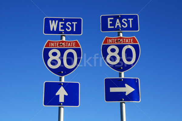 interstate 80 road signs Stock photo © pancaketom