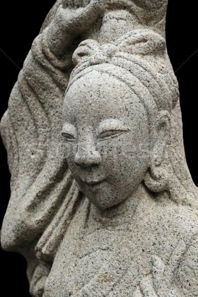 Asian woman stone carving Stock photo © pancaketom