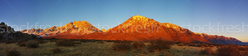 Eastern Sierra Mountain Sunrise Stock photo © pancaketom