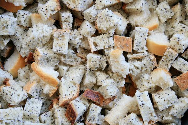 cut bread background Stock photo © pancaketom