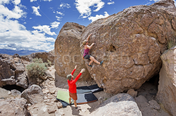 Couple Bouldering Stock photo © pancaketom