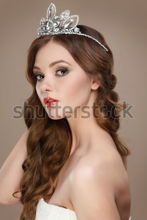Portrait of beautiful sexual redheaded girl Stock photo © pandorabox