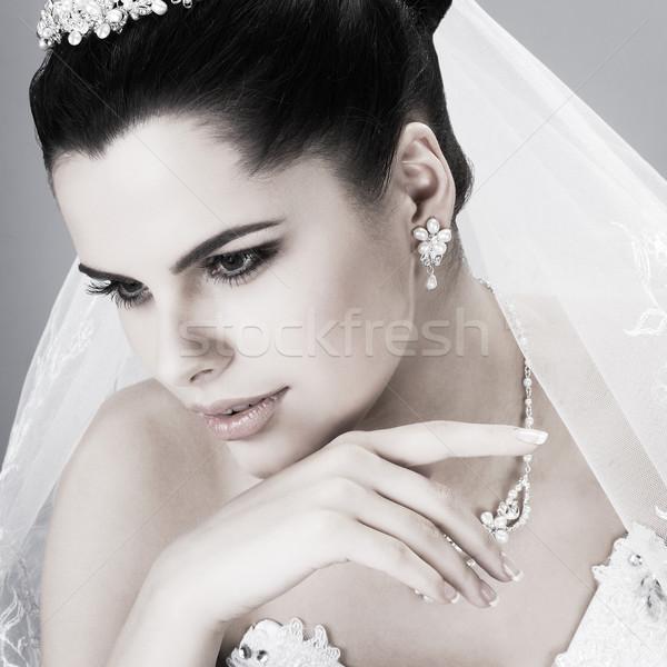 結婚式 装飾 少女 女性 自然 髪 ストックフォト © pandorabox