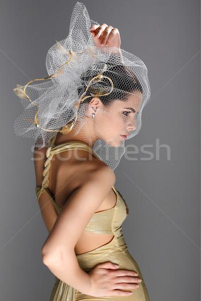 Wedding decorazione ragazza donne moda sposa Foto d'archivio © pandorabox