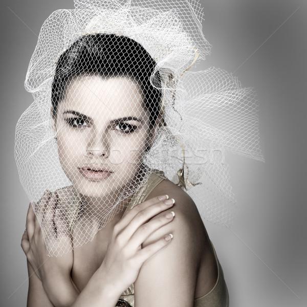 Düğün dekorasyon kız kadın moda gelin Stok fotoğraf © pandorabox