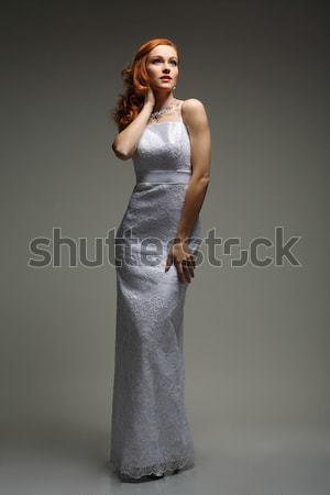 Kız gelinlik moda gelin genç kadın Stok fotoğraf © pandorabox