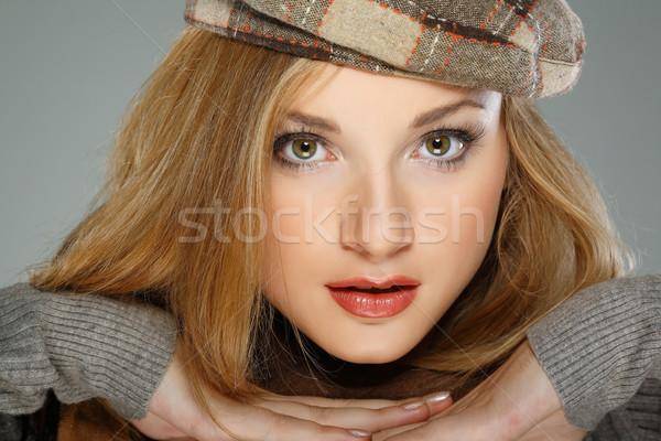 Stok fotoğraf: Fotoğraf · güzel · kız · kış · elbise · kadın · mutlu