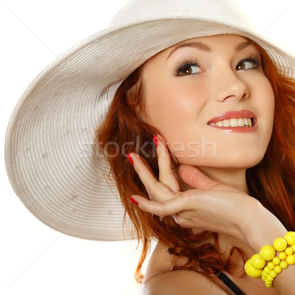 Güzel kız yaz stil yüz gözler Stok fotoğraf © pandorabox