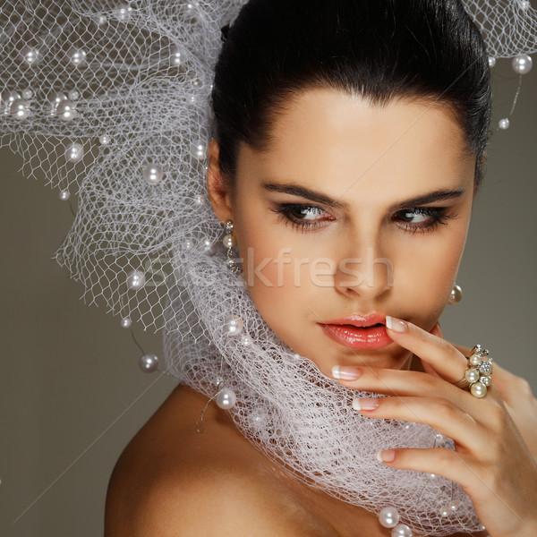 結婚式 装飾 少女 女性 髪 美 ストックフォト © pandorabox
