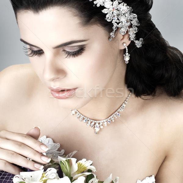 Wedding decorazione ragazza donne natura capelli Foto d'archivio © pandorabox
