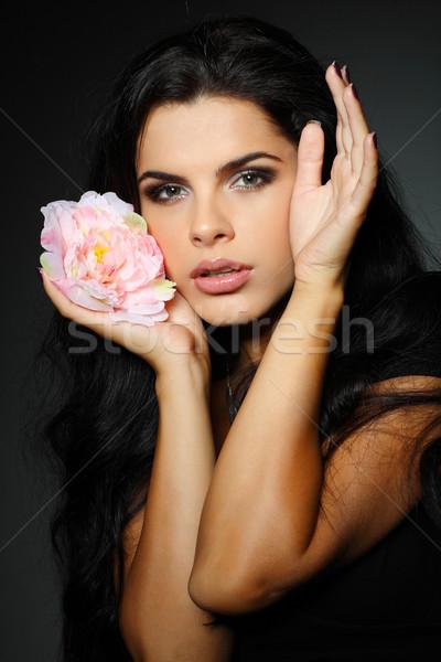 Fotoğraf güzel kız moda stil kız portre Stok fotoğraf © pandorabox