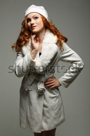 elegant sexual woman in beige clothes in fashion style Stock photo © pandorabox