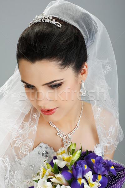 Düğün dekorasyon kız kadın doğa saç Stok fotoğraf © pandorabox